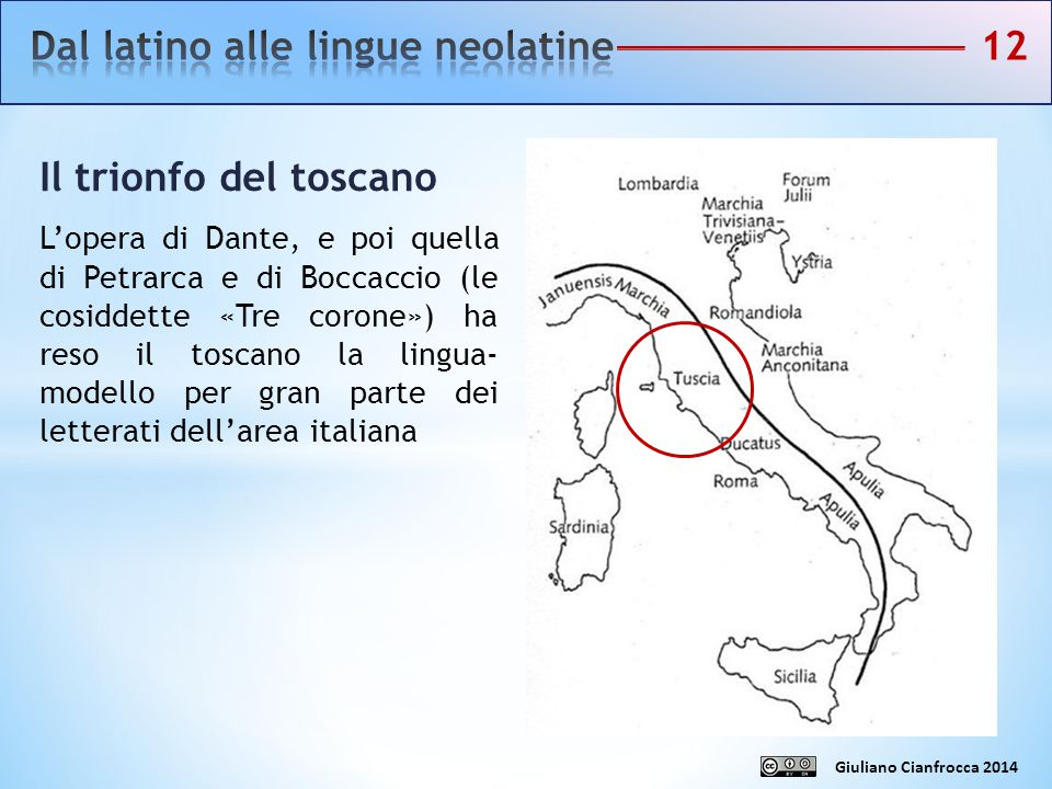 Dal latino alle lingue neolatine 12