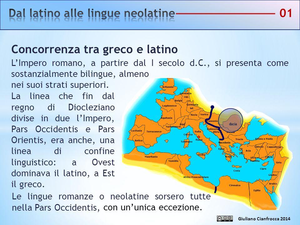 Dal latino alle lingue neolatine 01