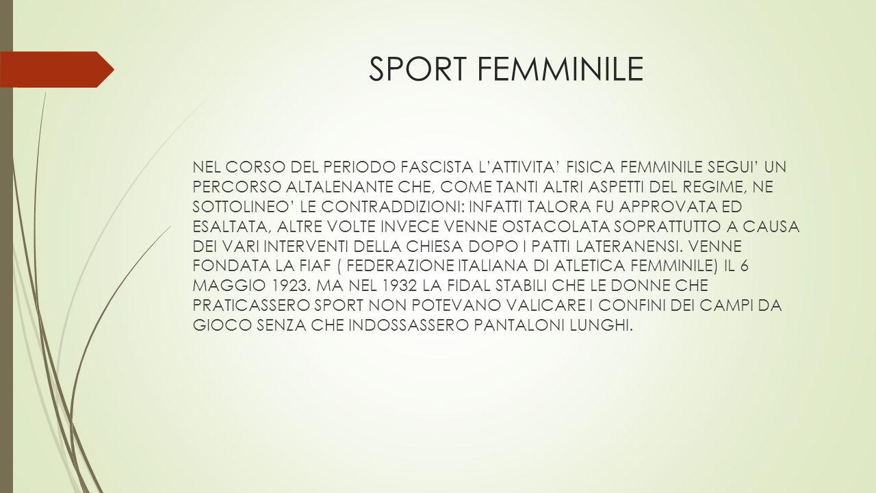 SPORT FEMMINILE