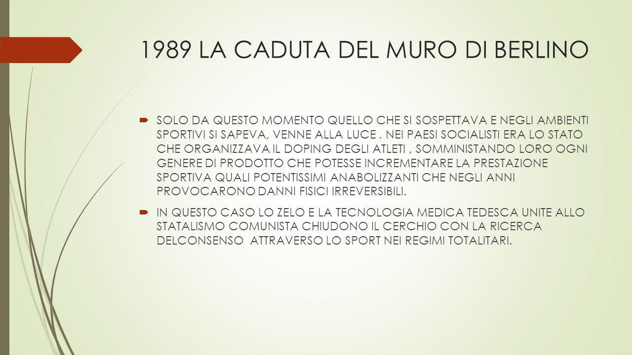 1989 LA CADUTA DEL MURO DI BERLINO