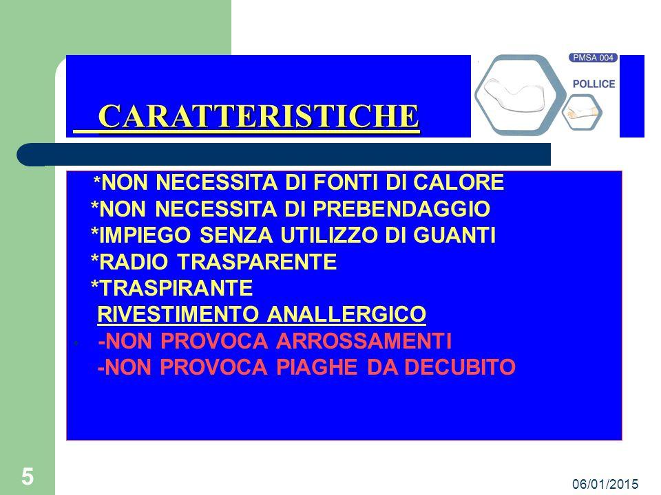 CARATTERISTICHE *NON NECESSITA DI PREBENDAGGIO
