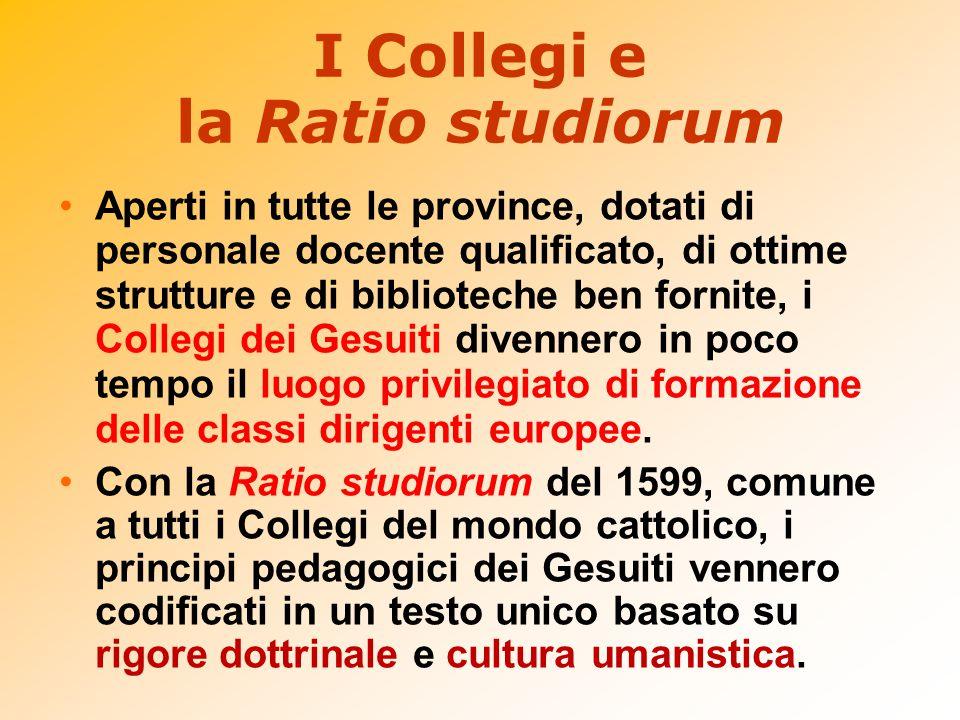 I Collegi e la Ratio studiorum