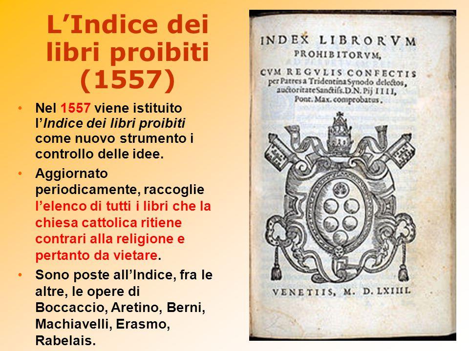 L'Indice dei libri proibiti (1557)