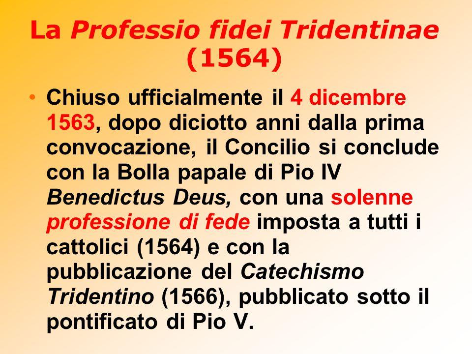 La Professio fidei Tridentinae (1564)