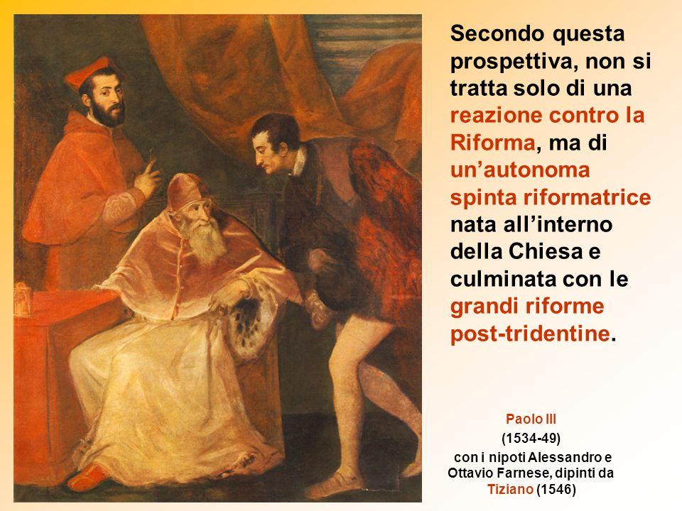 con i nipoti Alessandro e Ottavio Farnese, dipinti da Tiziano (1546)