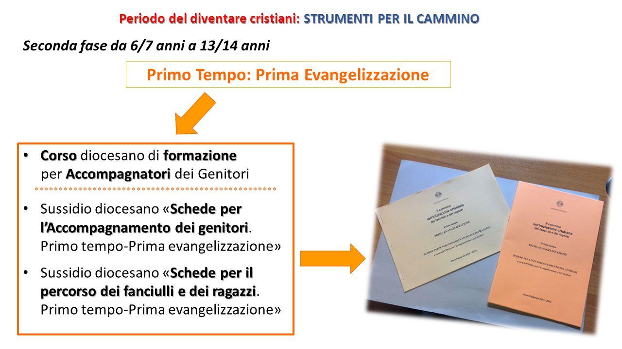 Primo Tempo: Prima Evangelizzazione