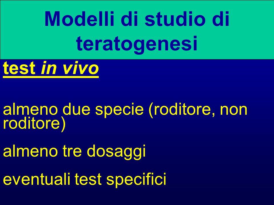 Modelli di studio di teratogenesi