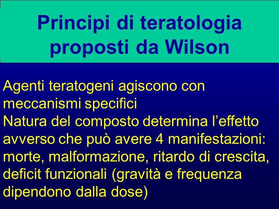 Principi di teratologia proposti da Wilson
