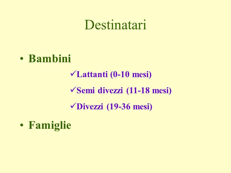 Destinatari Bambini Famiglie Lattanti (0-10 mesi)