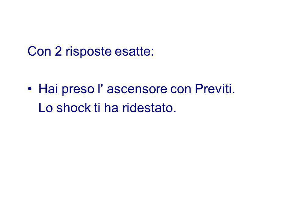 Con 2 risposte esatte: Hai preso l ascensore con Previti. Lo shock ti ha ridestato.