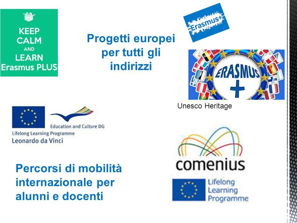 Progetti europei per tutti gli indirizzi