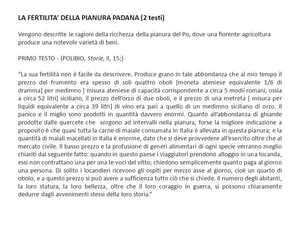 LA FERTILITA' DELLA PIANURA PADANA (2 testi)