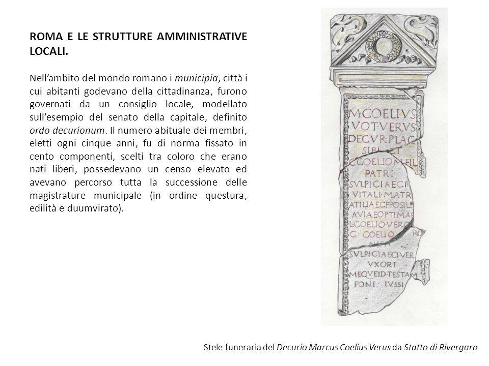 ROMA E LE STRUTTURE AMMINISTRATIVE LOCALI.