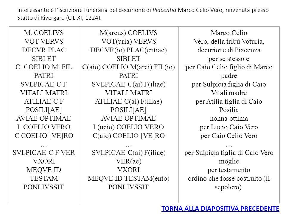 DECVR(io) PLAC(entiae) C(aio) COELIO M(arci) FIL(io)