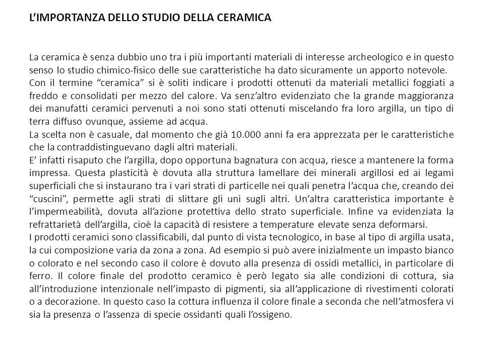 L'IMPORTANZA DELLO STUDIO DELLA CERAMICA