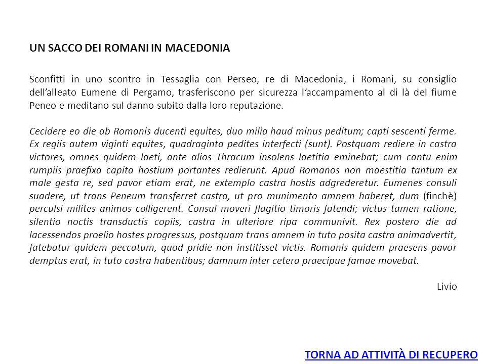 UN SACCO DEI ROMANI IN MACEDONIA