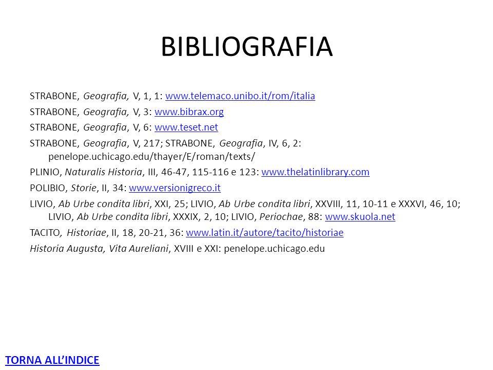 BIBLIOGRAFIA TORNA ALL'INDICE