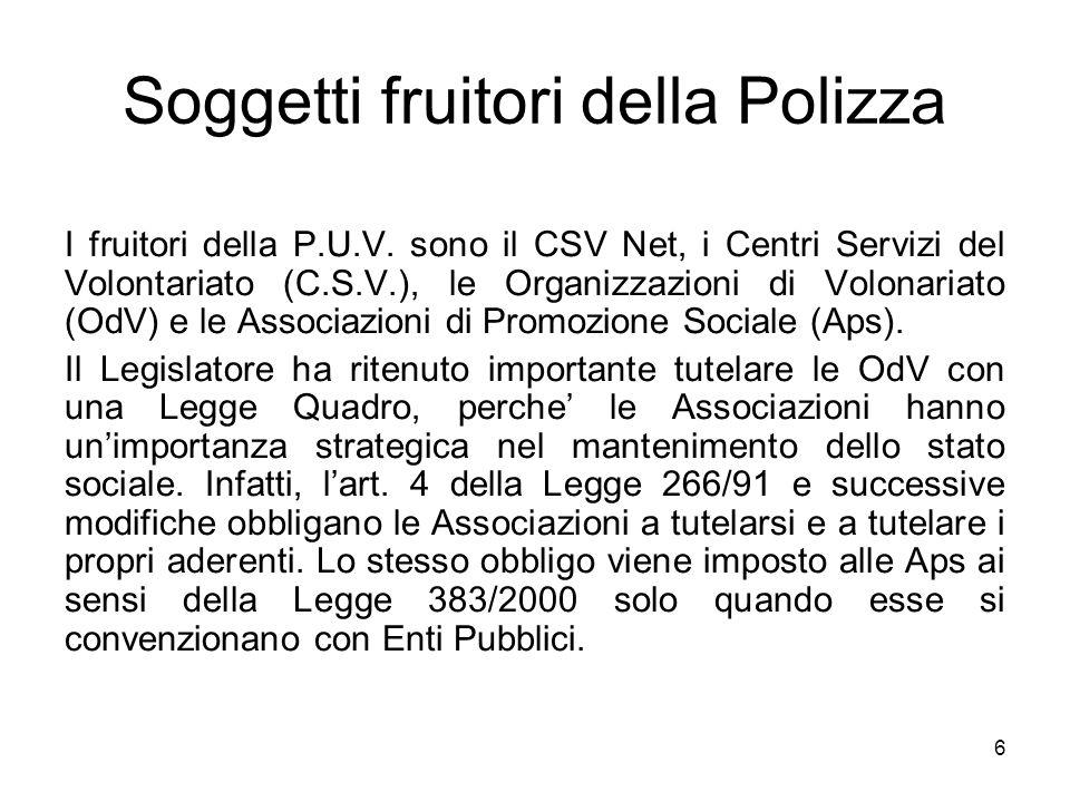 Soggetti fruitori della Polizza