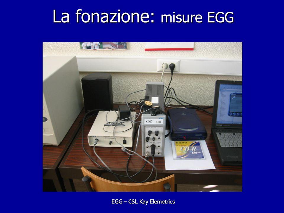 La fonazione: misure EGG