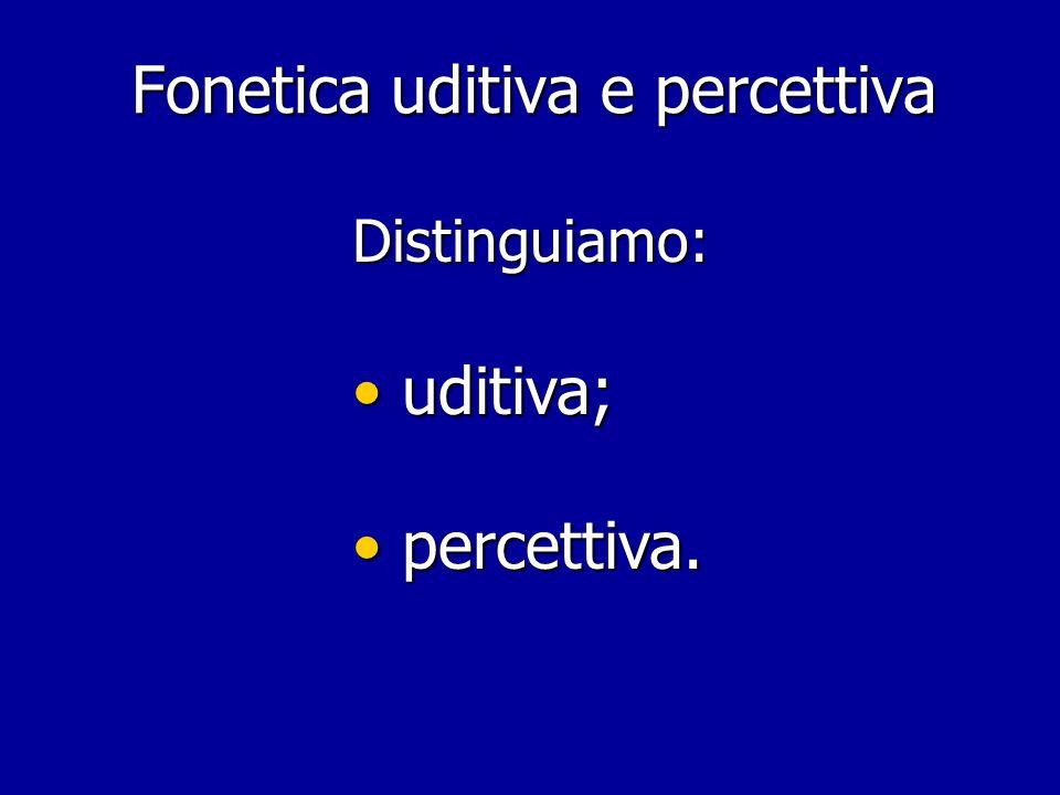 Fonetica uditiva e percettiva