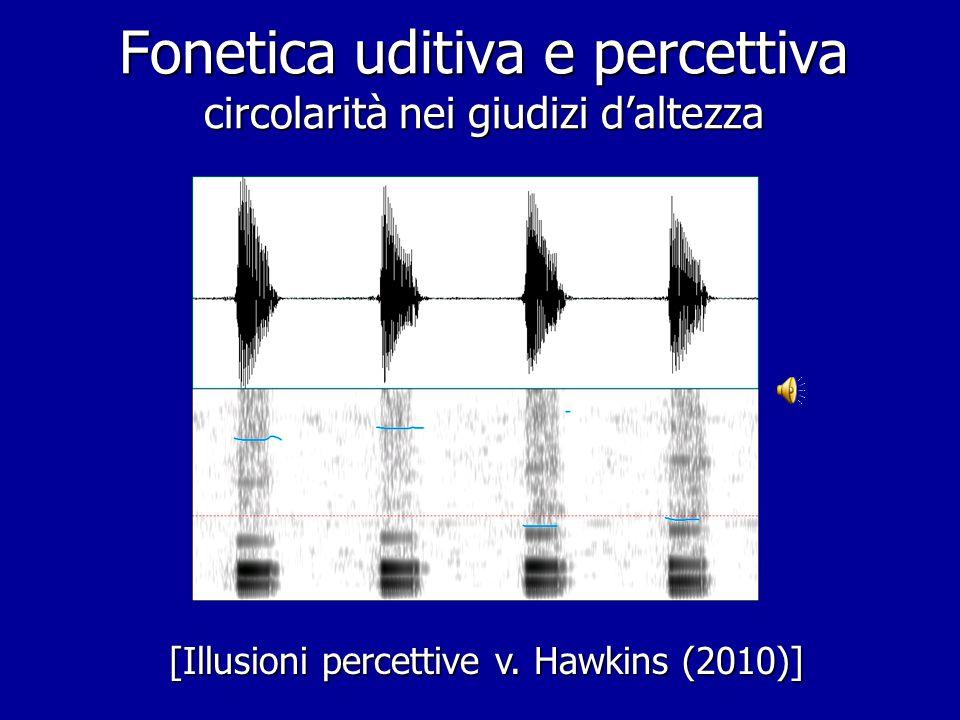 Fonetica uditiva e percettiva circolarità nei giudizi d'altezza
