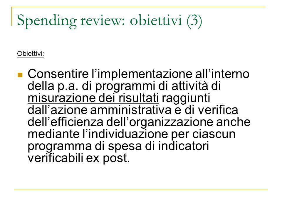 Spending review: obiettivi (3)