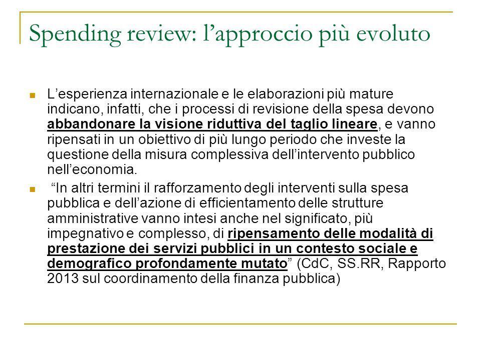 Spending review: l'approccio più evoluto