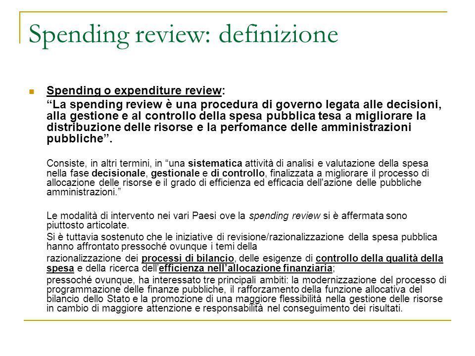 Spending review: definizione
