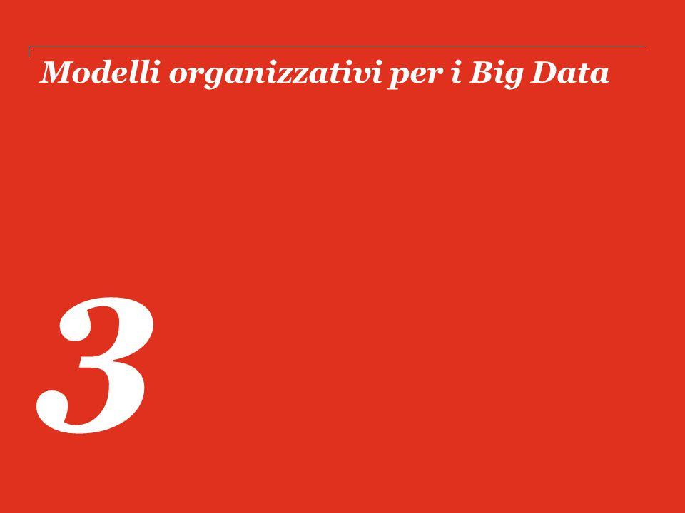 Modelli organizzativi per i Big Data