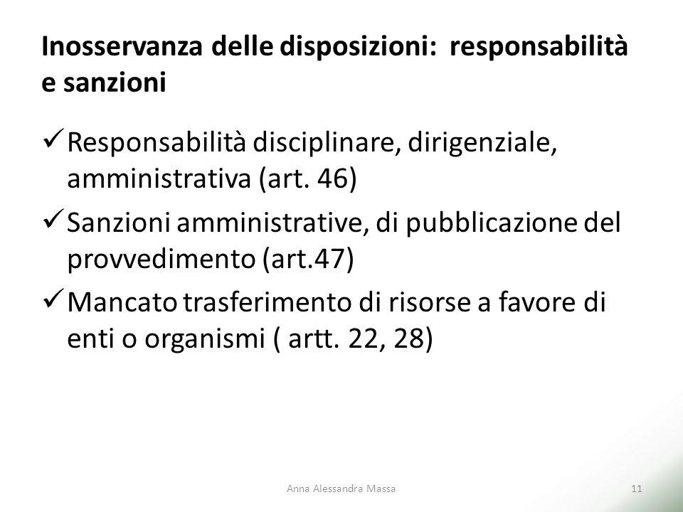 Inosservanza delle disposizioni: responsabilità e sanzioni