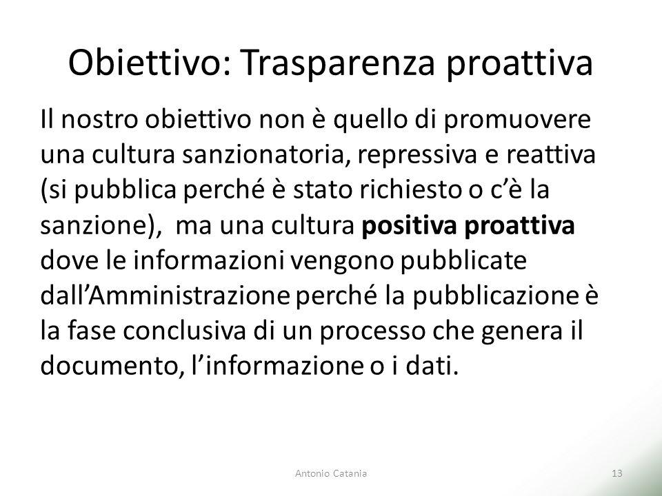 Obiettivo: Trasparenza proattiva