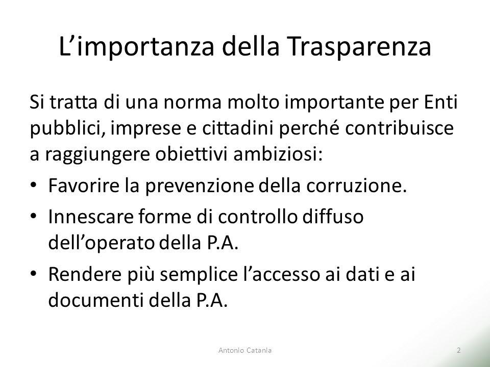 L'importanza della Trasparenza