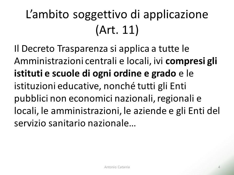 L'ambito soggettivo di applicazione (Art. 11)