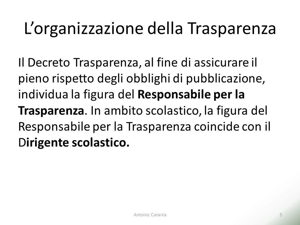L'organizzazione della Trasparenza