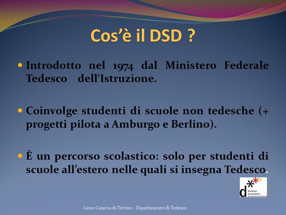 Cos'è il DSD Introdotto nel 1974 dal Ministero Federale Tedesco dell'Istruzione.