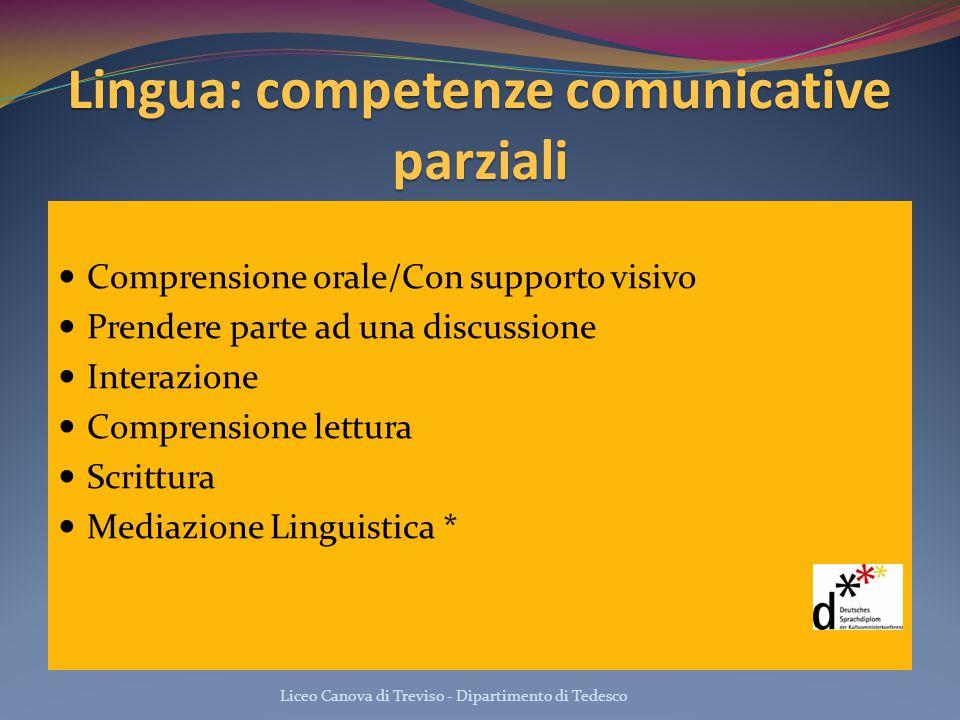 Lingua: competenze comunicative parziali