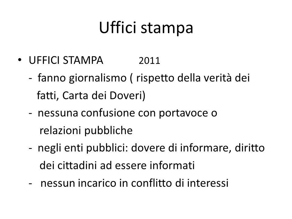 Uffici stampa UFFICI STAMPA 2011