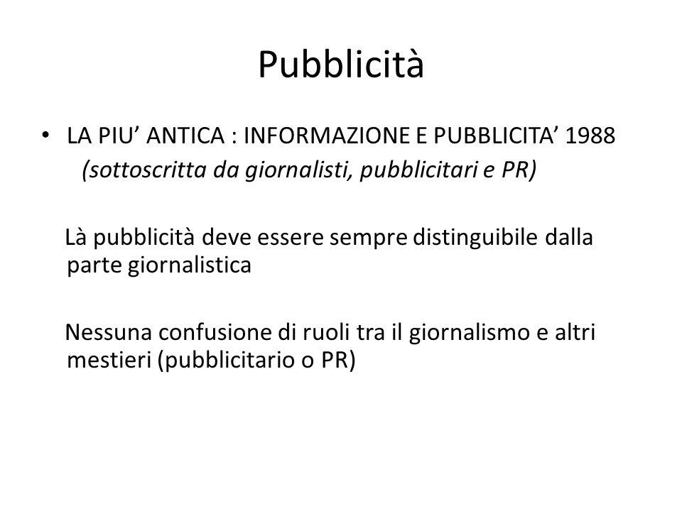 Pubblicità LA PIU' ANTICA : INFORMAZIONE E PUBBLICITA' 1988