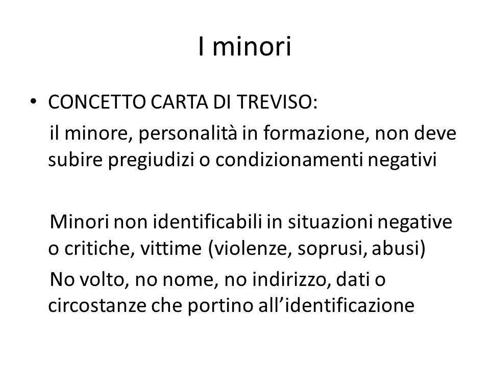 I minori CONCETTO CARTA DI TREVISO: