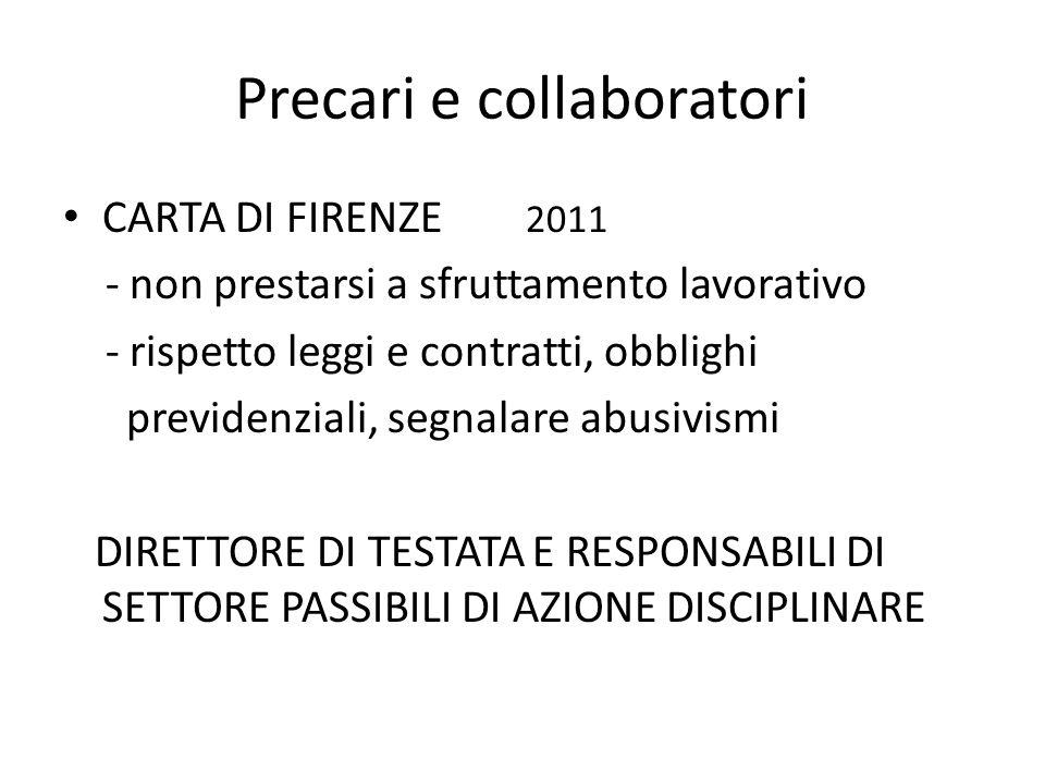 Precari e collaboratori