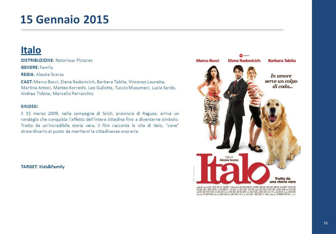 15 Gennaio 2015 Italo DISTRIBUZIONE: Notorious Pictures GENERE: Family