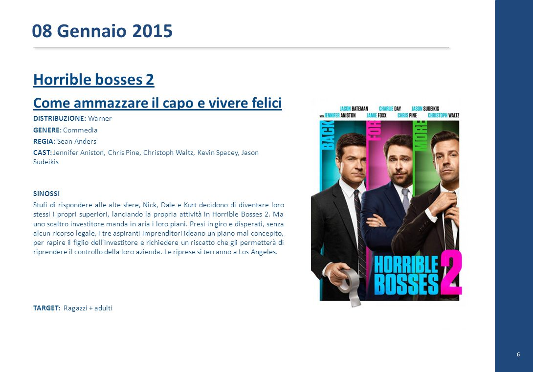 08 Gennaio 2015 Horrible bosses 2