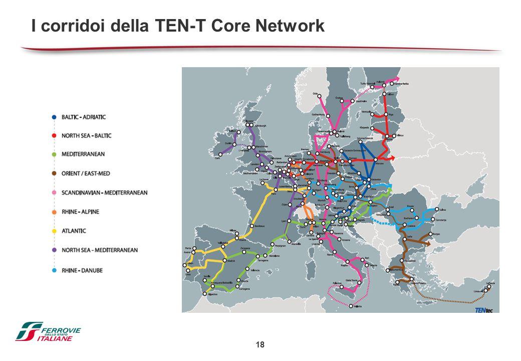 I corridoi della TEN-T Core Network