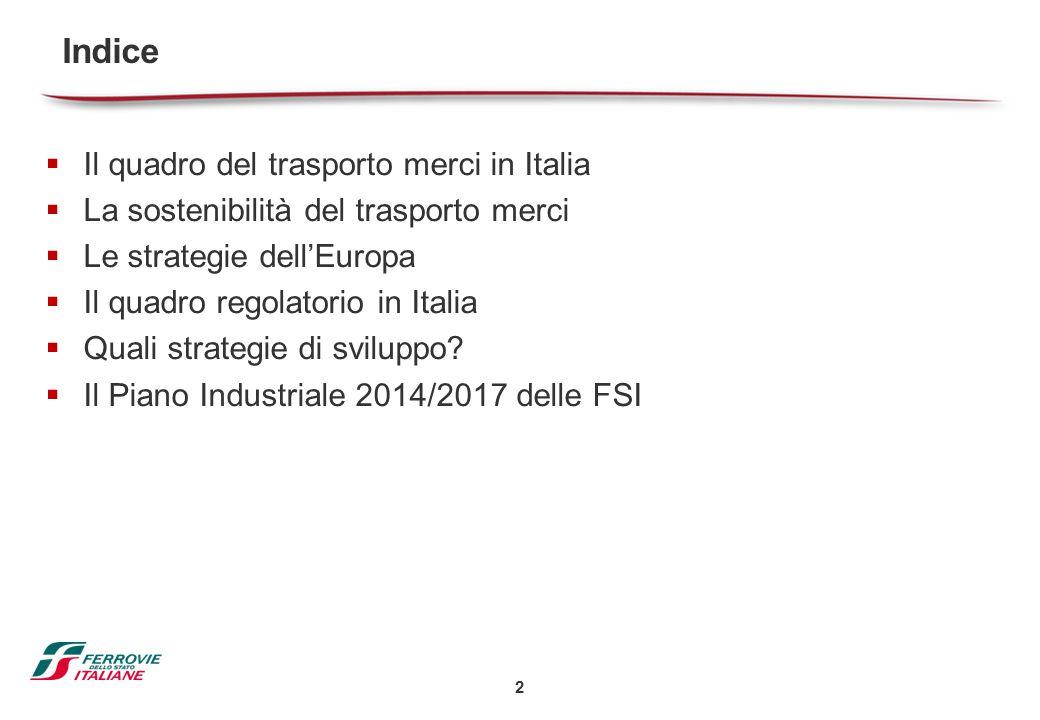 Indice Il quadro del trasporto merci in Italia