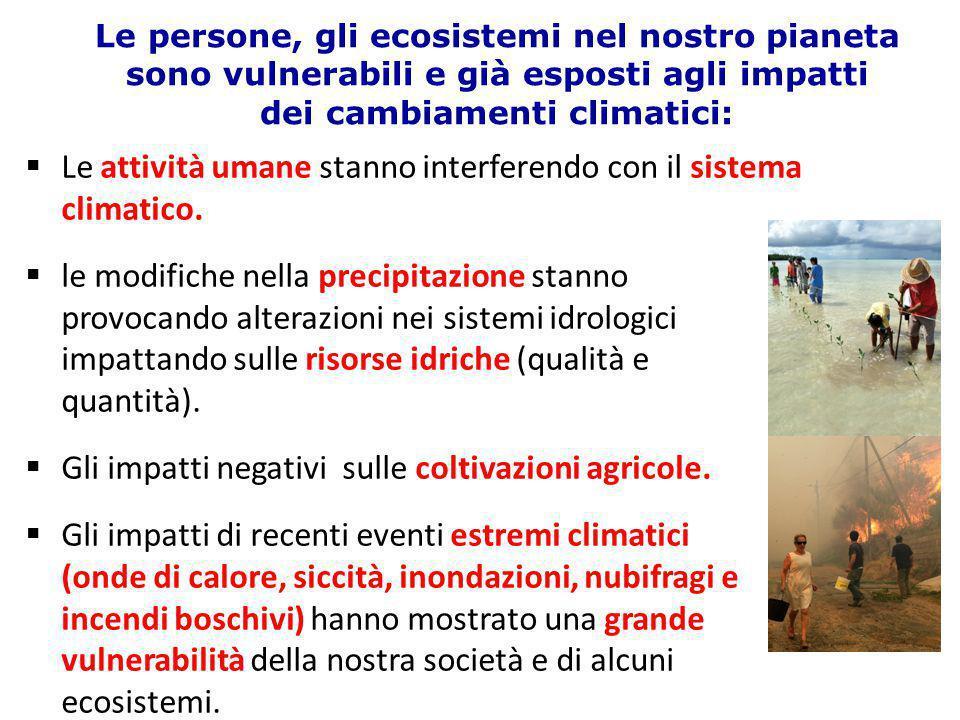 Le attività umane stanno interferendo con il sistema climatico.