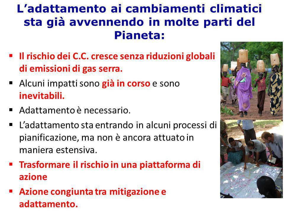 L'adattamento ai cambiamenti climatici sta già avvennendo in molte parti del Pianeta: