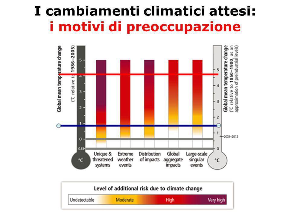 I cambiamenti climatici attesi: i motivi di preoccupazione