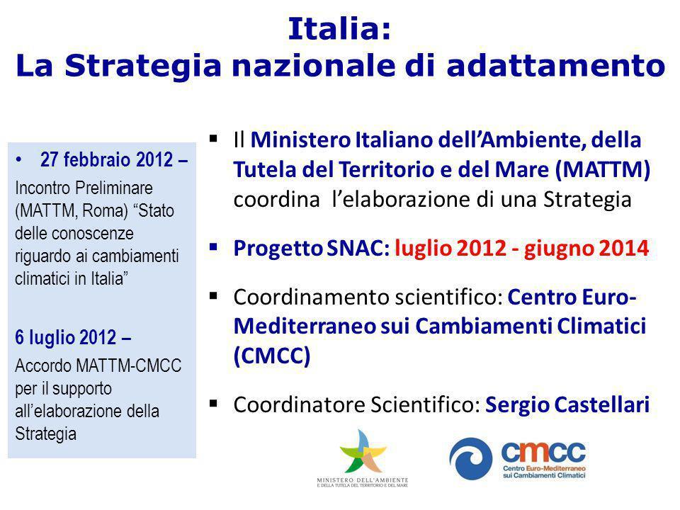 Italia: La Strategia nazionale di adattamento