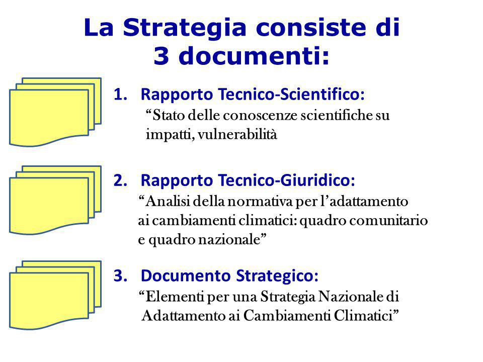 La Strategia consiste di 3 documenti: