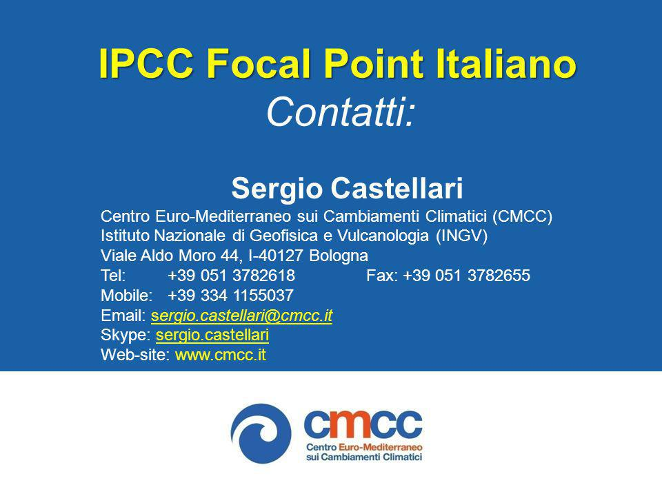 IPCC Focal Point Italiano Contatti: